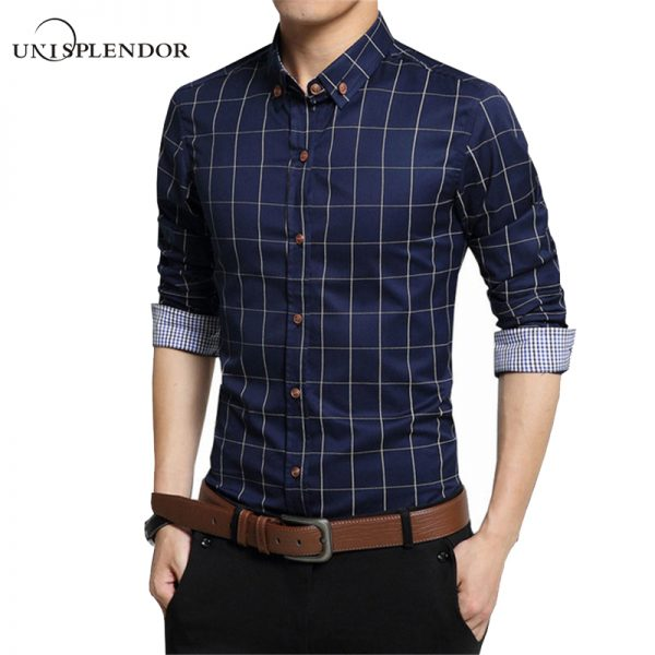 100% Cotton Dress Shirts Business Casual Shirts