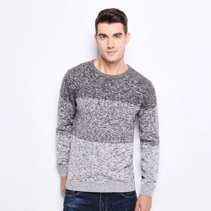 100% Cotton Knitted Sweater Fit Winter Pullover