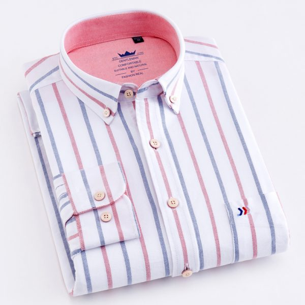 100% Cotton Multi Striped Oxford Dress Shirt