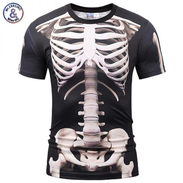 3d Print Skeleton Skulls T-shirt Summer Tops