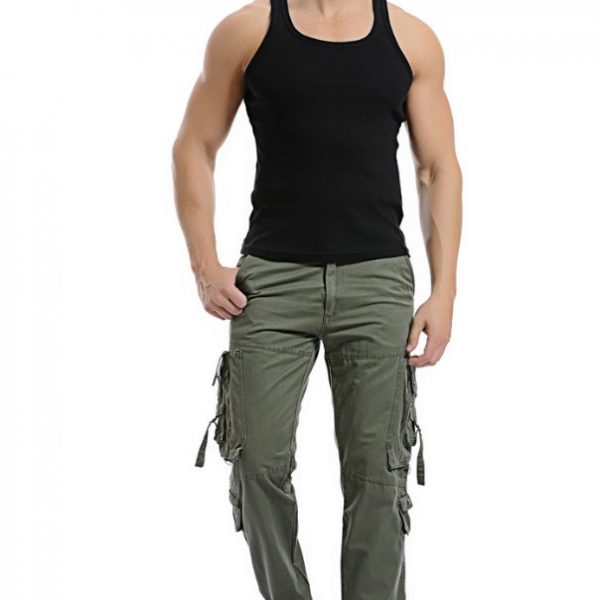 Autumn Men Cargo Pants Casual Military Trousers