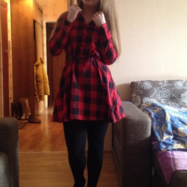 Autumn Plaid Dresses Leisure Vintage Dress