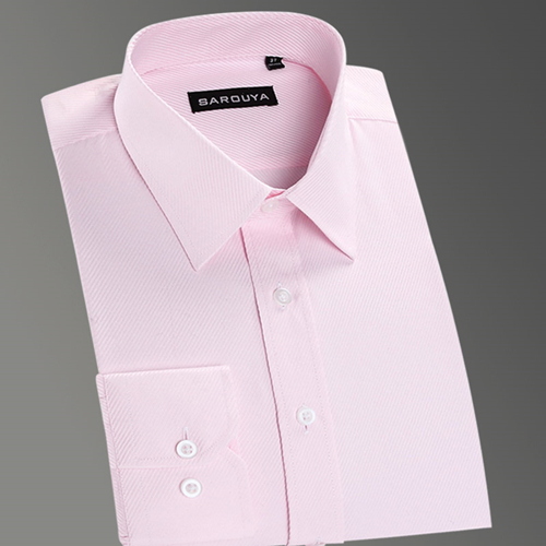 Basic Dress Shirt Business Solid Twill Tops Shirts