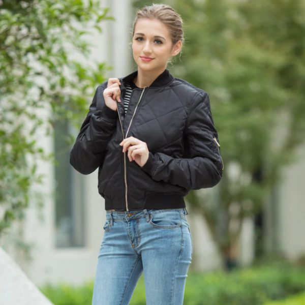 Bomber Jacket Women Coat Fashion Zipper