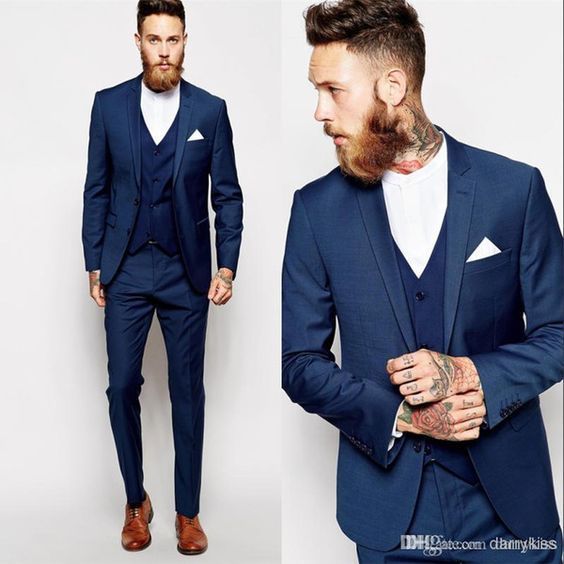 Business Men's Suits 3 Pieces Formal Suit