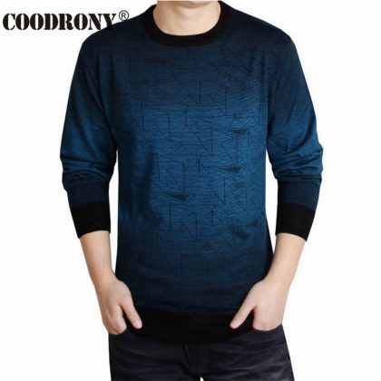 Cashmere Sweater Men Shirt Wool Pullover
