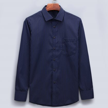 Casual Long Sleeved Shirt Classic Striped