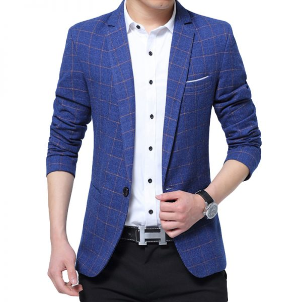 Casual Slim Blazers Men Suit Jacket