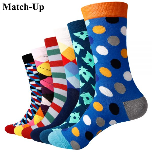 Combed Cotton Socks Wedding Gift Socks 6 pairs