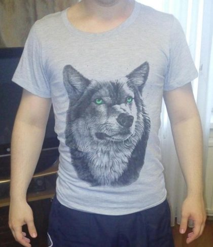 Cotton 3d T shirt Wolf Man's T-shirt