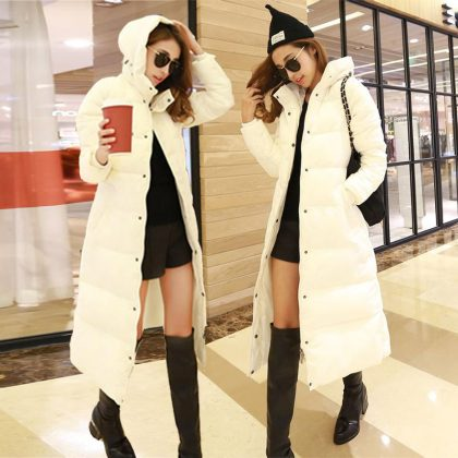 Cotton Slim Zipper Coat Hooded Jackets