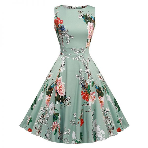 Cotton Summer Dress Rockabilly Party Dresses Sundress