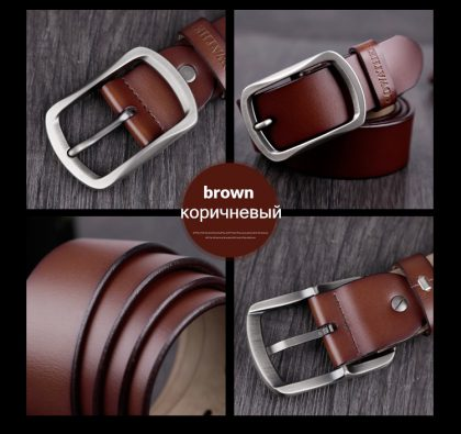 Cowhide Genuine Leather Belts Buckle Vintage