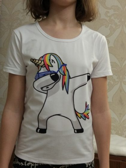 Dabbing Unicorn T-shirt Fashion Tops