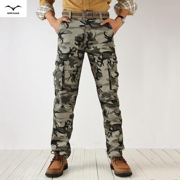 Fashion Cargo Pants Crotch Jogger Patchwork Pants