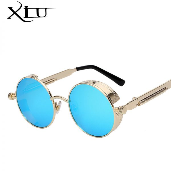 Fashion Glasses Round Metal Sunglasses
