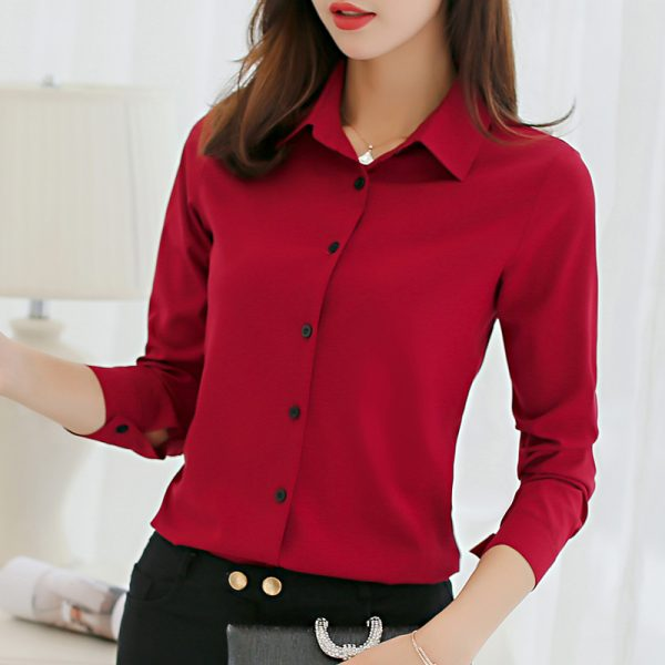 Fashion Shirts Tops Casual Long Sleeve Blouses