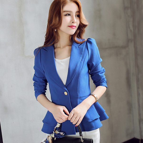 Fashion Single Button Blazer Women Suit