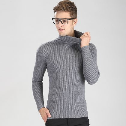 Fashion Turtleneck Sweater Men Knitted Sweater