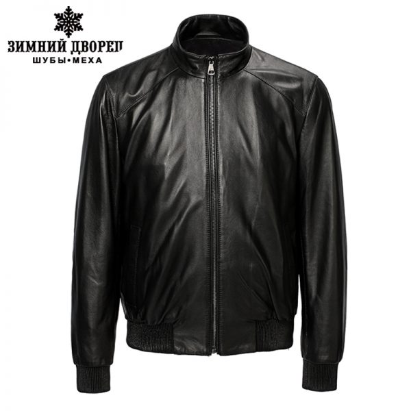 Genuine Leather Biker Jacket Sheepskin
