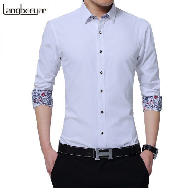 Korean Men's Shirt Long Sleeve Shirts