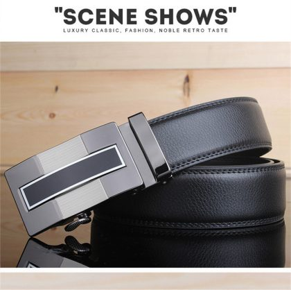 Leather Strap Automatic Buckle Belts