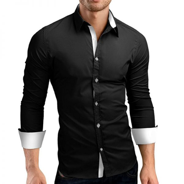 Long Sleeve Shirts Casual Man Dress Shirts