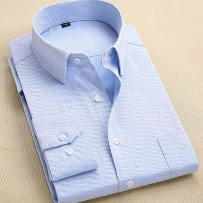 Long Sleeve Slim Men Dress Shirt
