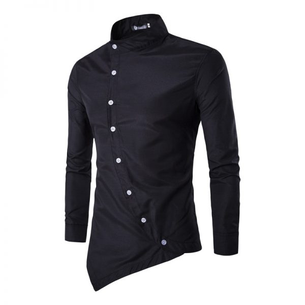 Men's Casual Shirt Long Sleeved Slim Shirt