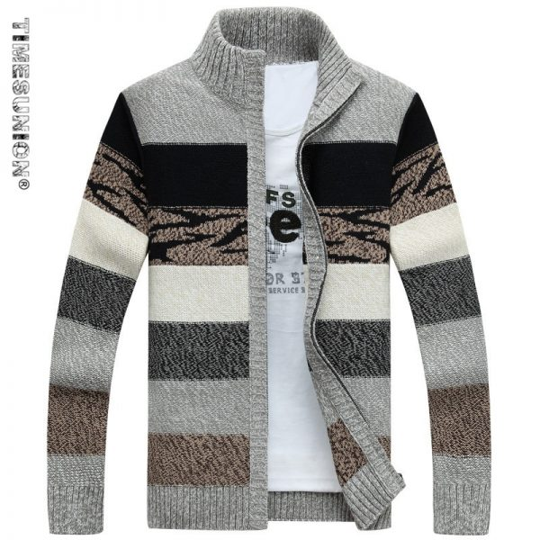 Men's Knitted Sweaters Cardigans Collar