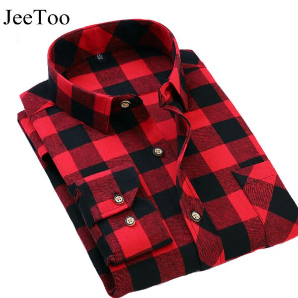 Men's Plaid Shirts Casual Dress Shirt Long Sleeve