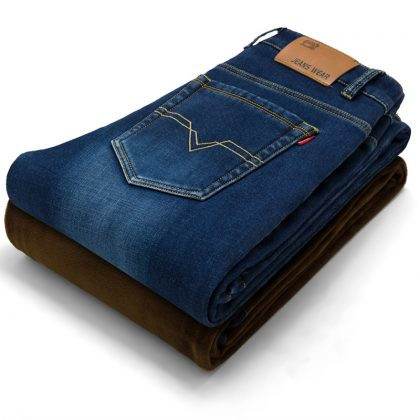 Men Activities Warm Jeans Soft Men Jeans