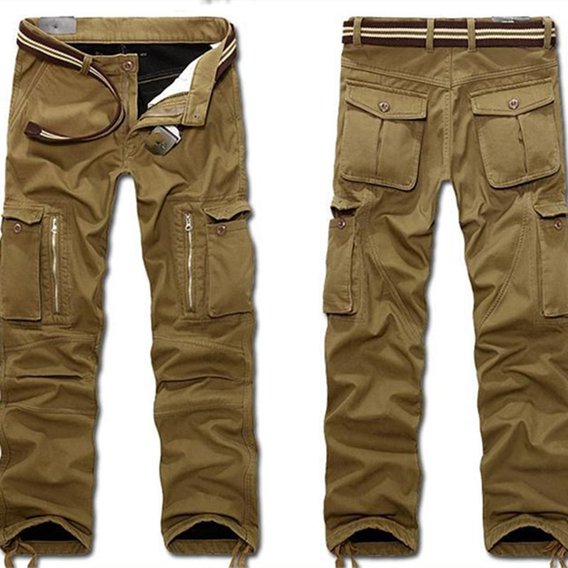 Men Cargo Pants Baggy Tactical Trousers