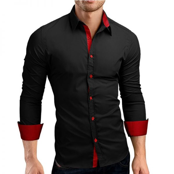 Men Casual Shirt Long Sleeve Shirts