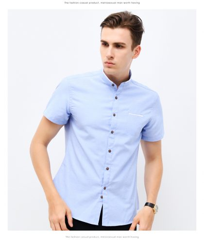 Men Fashion Clothing Short Sleeve Shirt