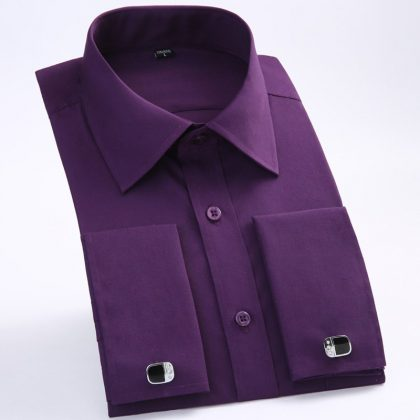 Men French Cufflinks Shirt Men's Shirt