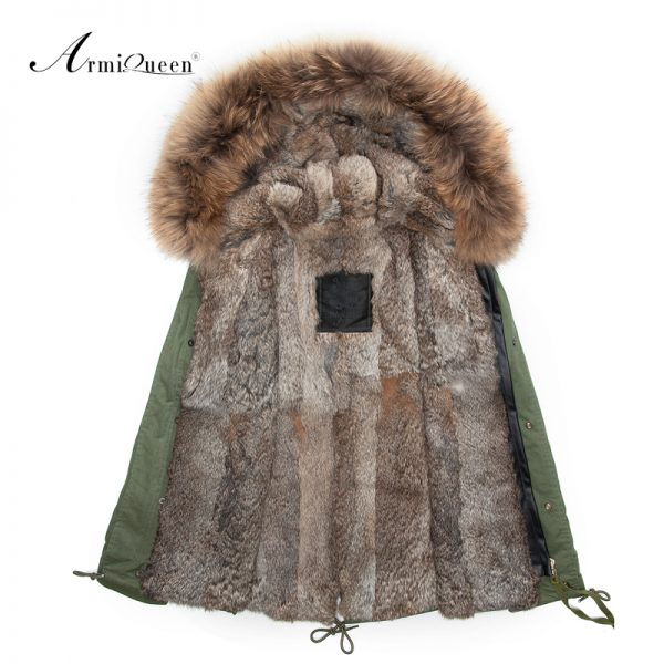 Men Fur Parka Winter Outwear Jacket