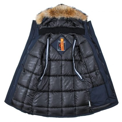 Men Padded Parka Winter Polyester Coat