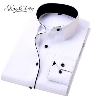 Men Shirt Long Sleeve Formal Business Shirt