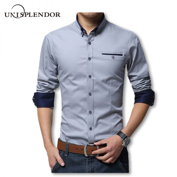 New Spring Cotton Shirts Slim Fit Shirt