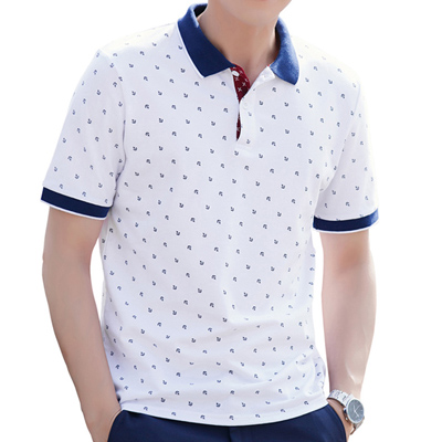 Polo Shirts Men Summer Cotton Printed Shirts