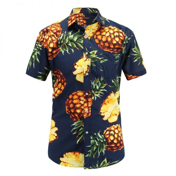 Short Sleeve Hawaiian Shirt Casual Floral Shirts
