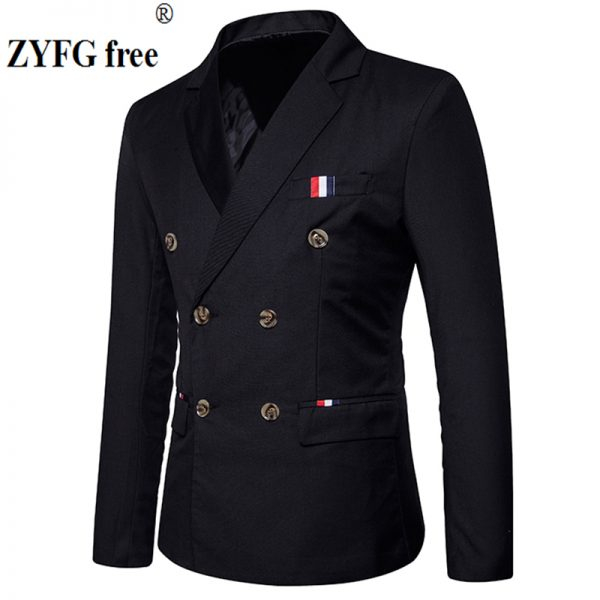 Casual Suits, Casual Suits Men's, Double Breasted, Leisure Suit, Patchwork, Slim Casual Suits