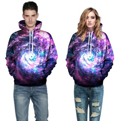 Space Galaxy Hoodies Men Women Sweatshirt