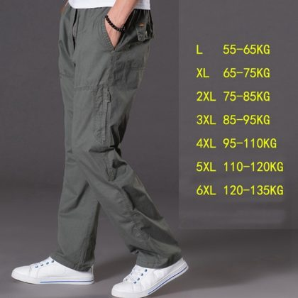 Summer Casual Pants Multi Pocket Jeans