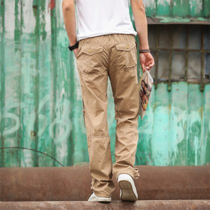 Summer Thin Men's Cargo Pants Breathable Trousers