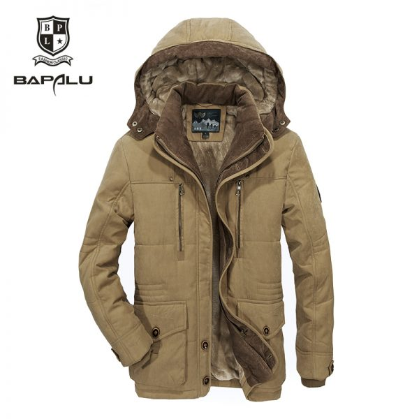 Thick Warm Jacket Men's Casual Hooded Coat