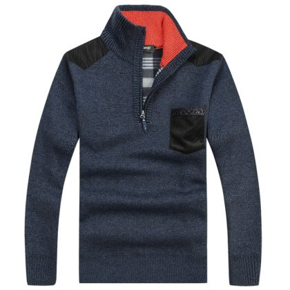 Velvet Cashmere Sweaters Men Pullovers