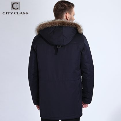 Winter Fur Jacket Hood Long Parka
