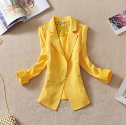 Women Blazer Elegant Summer Jacket